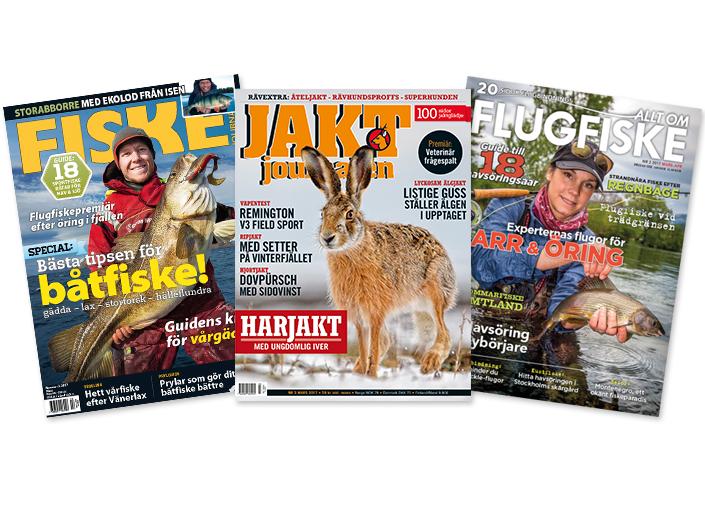 Svenska Media Docu förvärvade idag Fiskejournalen, Allt om Flugfiske samt Jaktjournalen från Aller Media.